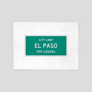 El Paso, Texas City Limits 5'x7'Area Rug