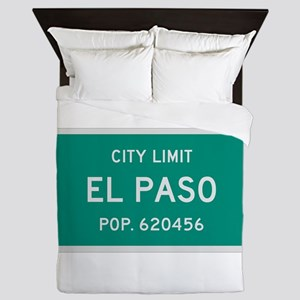El Paso, Texas City Limits Queen Duvet