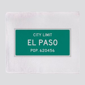 El Paso, Texas City Limits Throw Blanket