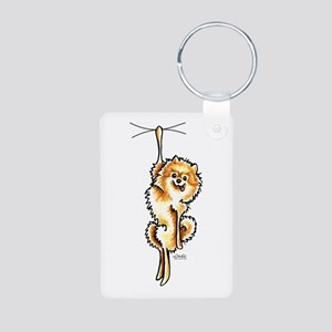 Clingy Orange Pomeranian Keychains
