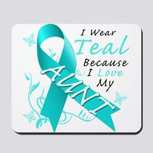 I Wear Teal Because I Love My Aunt Mousepad