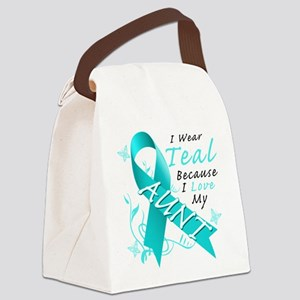 I Wear Teal Because I Love My Aunt Canvas Lunch Ba