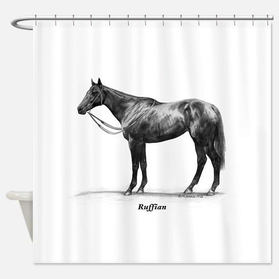 "Thoroughbred ""Ruffian"" Shower Curtain"