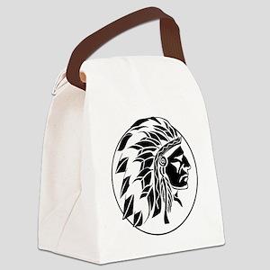Native American Headdress Canvas Lunch Bag