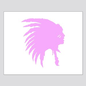 Pink Indian Headdress Outline Posters