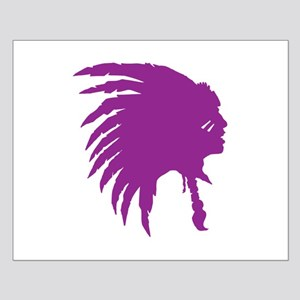 Purple Indian Headdress Outline Posters