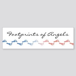 Footprints of Angels Bumper Sticker