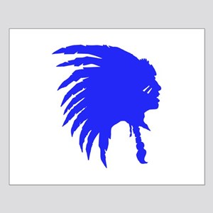 Blue Indian Headdress Outline Posters