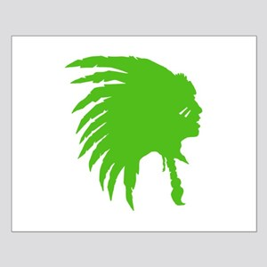 Green Indian Headdress Outline Posters