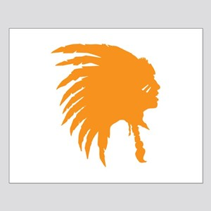 Orange Indian Headdress Outline Posters