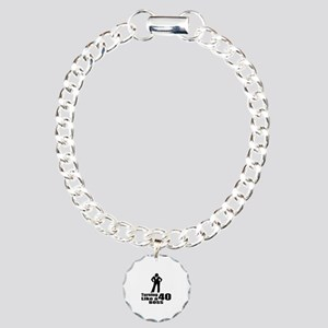 Turning 40 Like A Boss B Charm Bracelet, One Charm