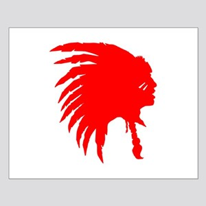 Red Indian Headdress Outline Posters