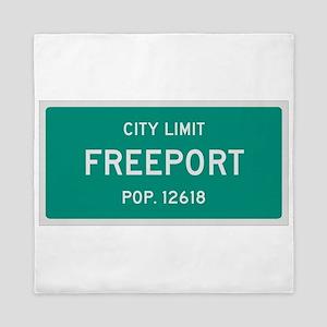 Freeport, Texas City Limits Queen Duvet