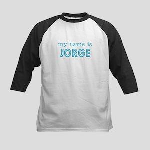 My name is Jorge Kids Baseball Jersey