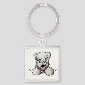 SC Wheaten Pocket Square Keychain