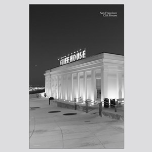 Black + White SF Cliffhouse Night Posters