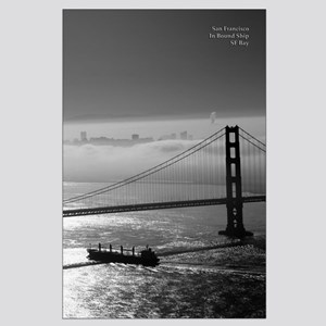 Black + White SF Foggy Bay Morning Posters