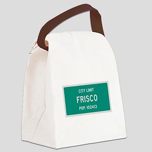 Frisco, Texas City Limits Canvas Lunch Bag