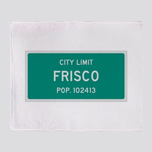 Frisco, Texas City Limits Throw Blanket