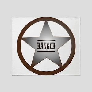 Ranger Badge Throw Blanket