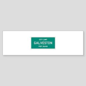 Galveston, Texas City Limits Bumper Sticker