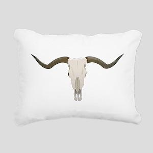 Longhorn Skull Rectangular Canvas Pillow