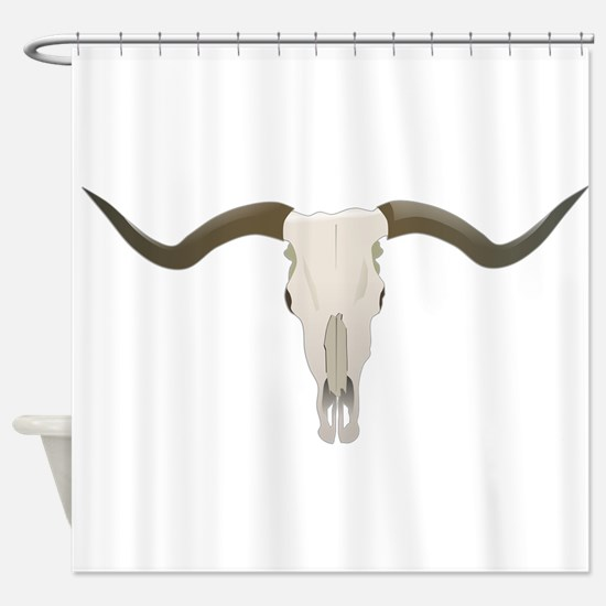 Longhorn Skull Shower Curtain
