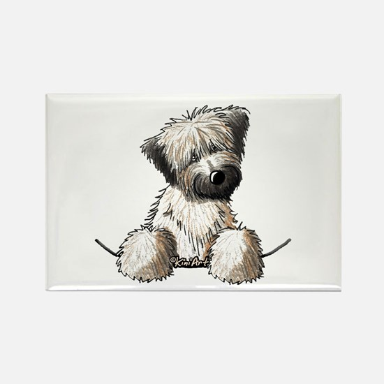 Pocket Wheaten Rectangle Magnet