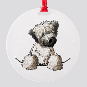 Pocket Wheaten Round Ornament