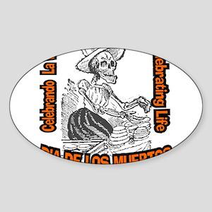 Celebrando la Vida Oval Sticker