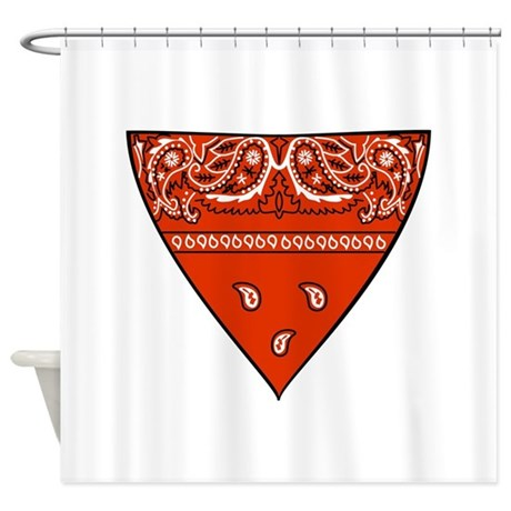Red Bandana Shower Curtain By CowboysAndIndians