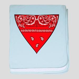 Red Bandana baby blanket