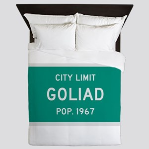 Goliad, Texas City Limits Queen Duvet