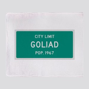 Goliad, Texas City Limits Throw Blanket