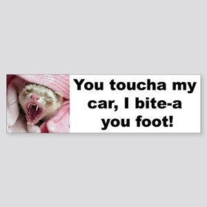 """Bite Your Foot"" Bumper Sticker -- pink"