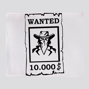 Wanted Poster Throw Blanket