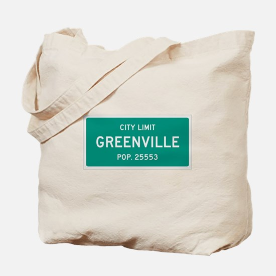 Greenville, Texas City Limits Tote Bag
