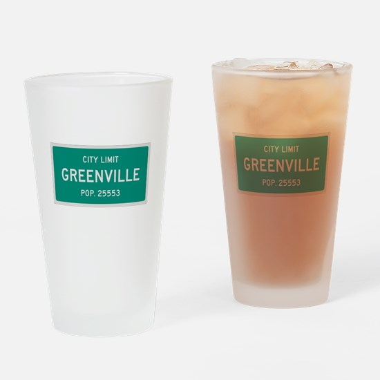 Greenville, Texas City Limits Drinking Glass