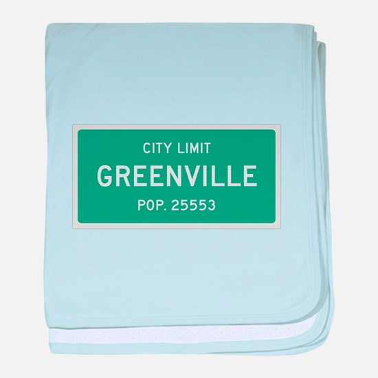 Greenville, Texas City Limits baby blanket