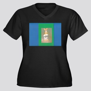 Blue Green Gold Hersheys Rabbit. Plus Size T-Shirt