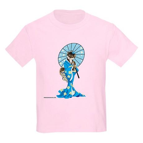 Shiba Geisha, Black and Tan, Kids Light T-Shirt