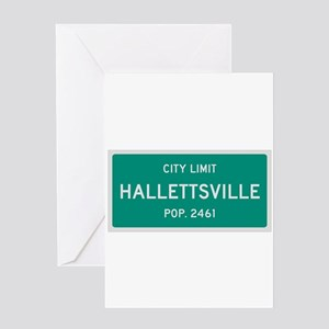 Hallettsville, Texas City Limits Greeting Card