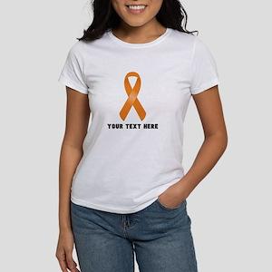 Orange Awareness Rib Women's Classic White T-Shirt