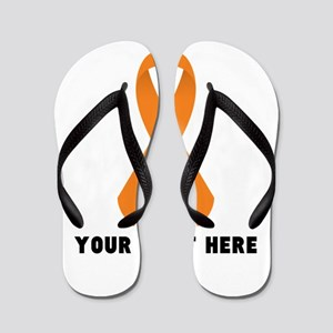 f1b430e0ce03a Orange Awareness Ribbon Customized Flip Flops