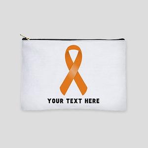 Orange Awareness Ribbon Customized Makeup Pouch