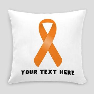 Orange Awareness Ribbon Customized Everyday Pillow