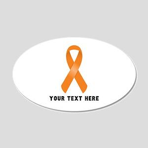 Orange Awareness Ribbon Cust 20x12 Oval Wall Decal
