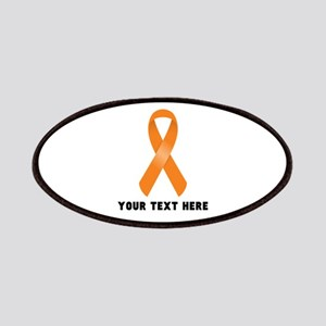 Orange Awareness Ribbon Customized Patch
