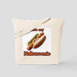 Bite My Halloweenie Tote Bag