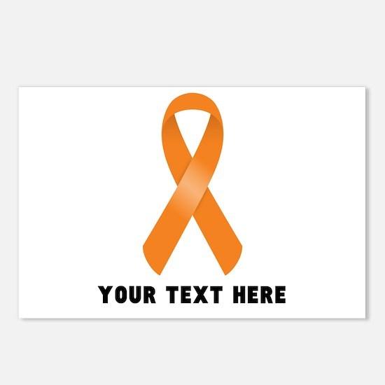 Orange Awareness Ribbon C Postcards (Package of 8)